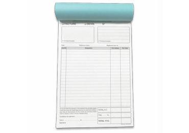 Carnet Facture / devis A5 - (15x21cm)