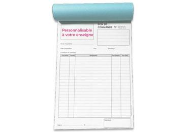 Carnet Bon de Commande A5 Personnalisé - (15x21cm)