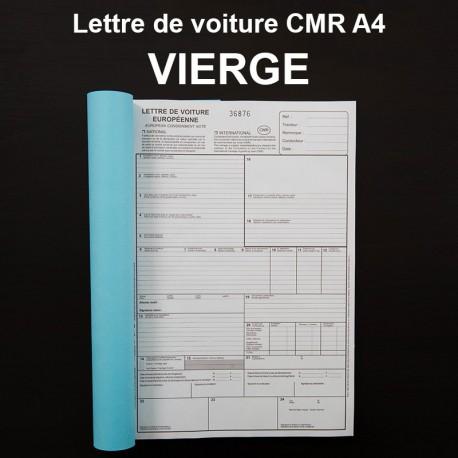 Lettre de voiture CMR A4 vierge - (21x29.7cm)