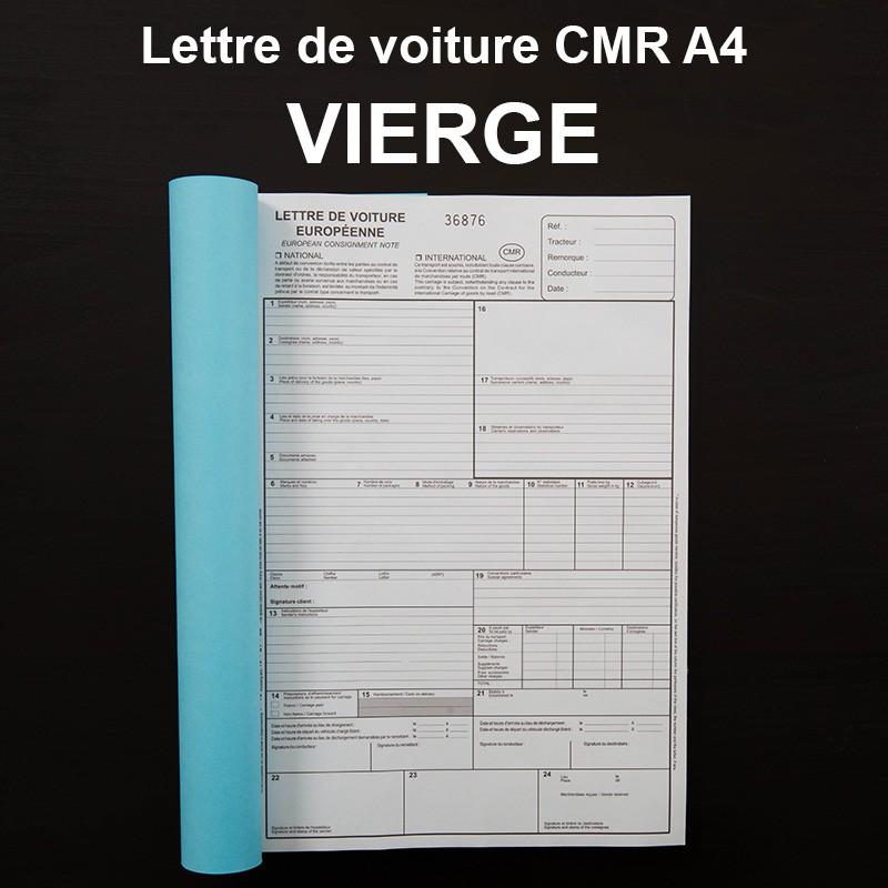Carnet Cmr Lettre De Voiture Personnalise Ou Vierge Imprime Com