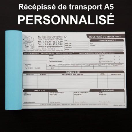 Récépissé de transport A5 personnalisé - (15x21cm)