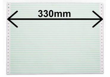 Listing 1 feuillet largeur 380mm zoné vert